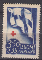 Finland 1941 Red Cross Mi#236 Mint Never Hinged
