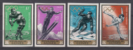 Guinea 1964 Winter Olympic Games Mi#235-238 Yvert#195-197 + PA, Mint Never Hinged