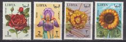 Libya Flowers 1965 Mi#193-196 Mint Never Hinged