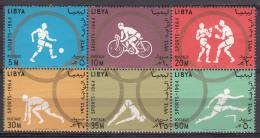 Libya 1964 Olympic Games Mi#160-165 Mint Never Hinged