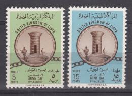 Libya 1961 Mi#107-108 Mint Never Hinged