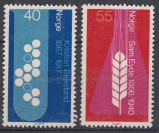 Norway 1966 Mi#549-550 Mint Hinged - Noruega