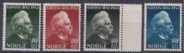 Norway 1943 Mi#287-290 Mint Hinged