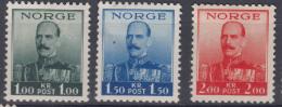 Norway 1937 Mi#191,192,193 Mint Hinged