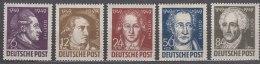 Germany Allied Occupation Soviet Zone 1949 Mi#234-238 Mint Hinged