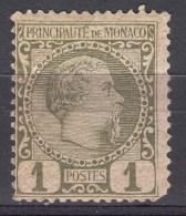Monaco 1885 Mi#1 Mint Lightly Hinged - Monaco