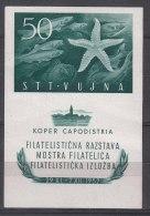 Italy Yugoslavia Trieste Zone B 1952 Seastar Block Sassone#3 Mi#Block 2 Mint Never Hinged - Mint/hinged