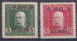 Austria Feldpost Occupation Of Bosnia 1915 Mi#93-94 Mint Hinged