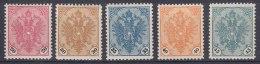 Austria Feldpost Occupation Of Bosnia 1901 Mi#24-28 Mint Hinged