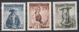 Austria 1952 Mi#978-980 Mint Never Hinged