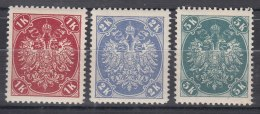 Austria Feldpost Occupation Of Bosnia 1900 Mi#21-23 Mint Never Hinged