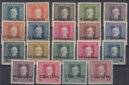 Austria Feldpost Occupation Of Italy 1918 Mi#1-19 Mint Hinged