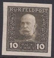Austria Feldpost 1915 10 H Imperforated Proof