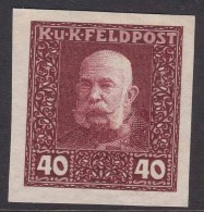 Austria Feldpost 1915 40 H Imperforated Proof