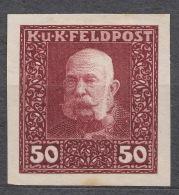 Austria Feldpost 1915 50 H Imperforated Proof