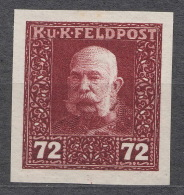 Austria Feldpost 1915 72 H Imperforated Proof