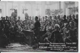 CPA URSS Staline 1937 - Personajes