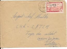 Sur Lettre - Poste Aérienne 1947 Surchargé - 10% - Algeria (1962-...)