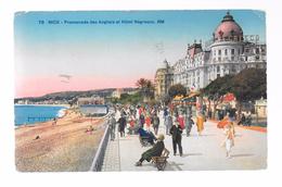 Nice : Promenade Des Anglais Et Hôtel Negresco. (Voir Commentaires) - Cafés, Hoteles, Restaurantes