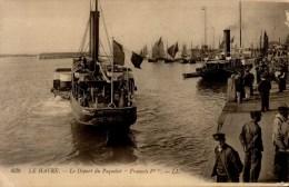 """76-LE HAVRE..LE DEPART DU PAQUEBOT """"FRANCOIS 1er"""" ..CPA ANIMEE - Le Havre"""
