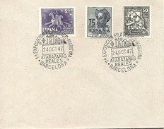 POSTMARKET  ESPAÑA 1947 CERVANTES-QUIJOTE - Schrijvers