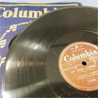 *DISQUE 78 TOURS COLOMBIA ANNIE CORDY LA BAGARRE - Gramophone Chanson Chanteur Musique Artiste Variété - 78 Rpm - Schellackplatten