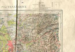 Madagascar Au 1.100.000° Feuille 47 TANANARIVE 1949 - Topographische Kaarten
