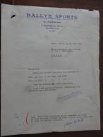 """Monte Carlo  Monaco  """" Rallye Sport """" Mr G Pasquier  1956 - Factures & Documents Commerciaux"""
