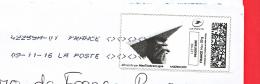 France - 2016- MONTIMBRENLIGNE -  Enveloppe DL - Avion En Papier - Cartas