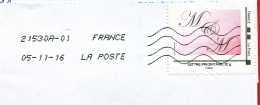 France - 2016- MONTIMBRAMOI -  Enveloppe DL - - Cartas