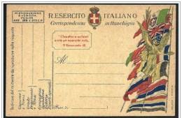 Italia/italy/Italie: Franchigia Militare, Military Franchise, Franchise Militaire. Bandiere, Flags, Drapeaux - Buste
