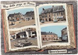 Henrichemont:  FIAT 1300 , RENAULT DAUPHINE - Place Henri-IV- CITROËN DS - La Fontaine Etc.- (France) - Passenger Cars