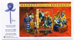 """NATIONS UNIES GENEVE - 2 FDC """"Respect Pour Les Réfugiés"""" - Novembre 2000 - Refugees"""