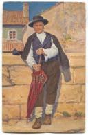 LABIN ALBONA - ISTRA ISTRIA, Croatia, Ethnic, Art PC, K.u.K. Censura, 1916. - Europe
