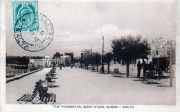 MALTA - THE PROMENADE GHAR ID DUD SLIEMA - VIAGGIATA - Malta