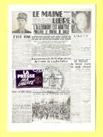 CPM Numérotée : 000935 -  1945 : ALLEMAGNE ABATTUE  ( Timbre Presse Ma LIBERTE ) - History