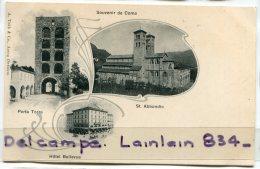 - Souvenir De Como - 3 Vues, St. Abbondoi, Hôtel Bellevue, Porta Torre, Précurseur, Non écrite, TTBE, Scans. . - Como