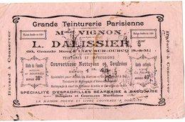 VP6271 - Buvard - Grande Teiturerie Parisienne - Mme VIGNON - L.DALISSIER à LIZY SUR OURCQ - Textile & Clothing
