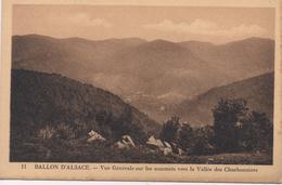 """CPA 88  BALLON D'ALSACE  - Vue Générale Sur Les Sommets Vers La Vallée Des Charbonniers Offert Par Hotel """"Jeanne D'Arc"""" - Other Municipalities"""