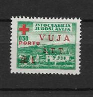 1948 MNH Triest Zone B Zwangzuschlagportomarken - 7. Trieste