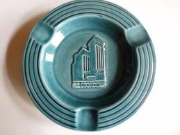 CENDRIER -   DESTORDEUR -   Bleu, Rond: Diamètre:15,5 Cm , Ht: 3 Cm , Céramique - Cendriers