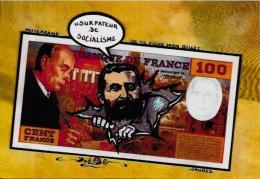 CPM LARDIE JIHEL Tirage Limité Numéroté En 30 Exemplaires Billet De Banque Banknote Mitterrand Jaurès - Monnaies (représentations)