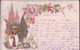 Basel-Stadt, Die Ersten Briefmarken Der Schweiz, Litho (16.9.1901) - Timbres (représentations)