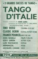 Tango D'Italie - Tino Rossi - Prisonnière - 2 Grands Succès Du Tango - Ed VDR - TBE - Partitions Musicales Anciennes