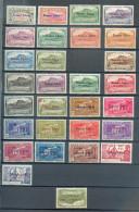 REU 652 - YT 187-188/191/193 à 199/ 190 Non Compté Offert (2eme Choix)/191 à 232 * - Neufs