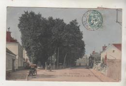 PROVINS - Carrefour Des Routes De Paris Et De Bray - Carte Colorisée - Provins