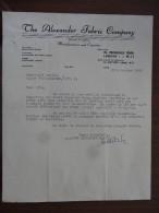 "Londres Royaume Uni "" The Alexander Fabric Company 1956 - Royaume-Uni"
