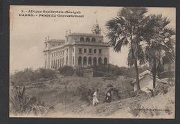 DF / SÉNÉGAL / EPOQUE COLONIALE / DAKAR / PALAIS DU GOUVERNEMENT / ANIMÉE / CIRCULÉE EN 1922 - Senegal