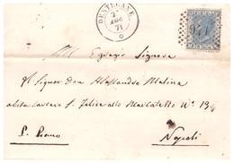 Dentecane. 1871. Annullo Doppio Cerchio Punti Su Lettera + Testo - 1861-78 Vittorio Emanuele II