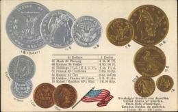 Gaufré Münz Cp USA, Dollar, Cent, Währungskurs - Coins (pictures)
